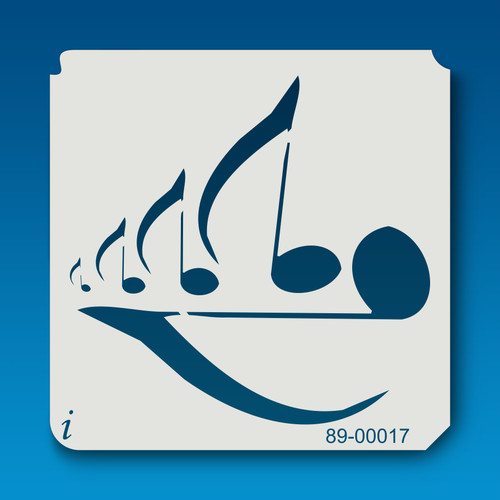 89-00017 Music Eighth Notes Stencil
