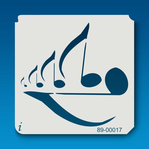89-00017 Music Eighth Notes Stencil