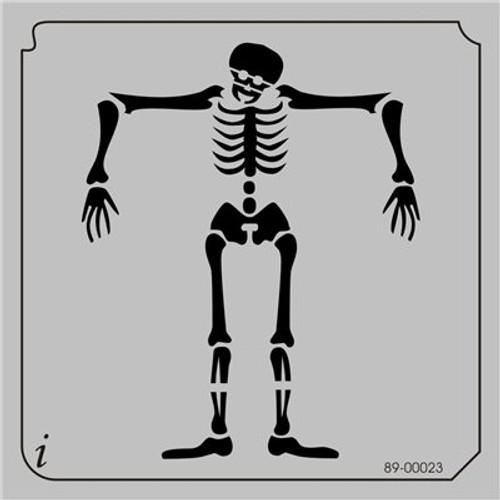 89-00023 Skeleton Skull Stencil
