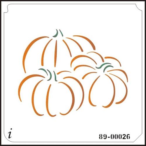 89-00026 Trio of Pumpkins