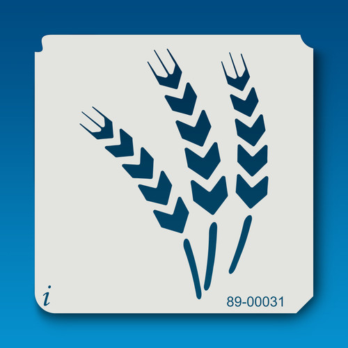 89-00031 Wheat Flower Stencil