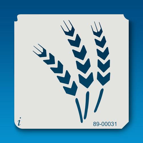 89-00031 Wheat Flower Stencil