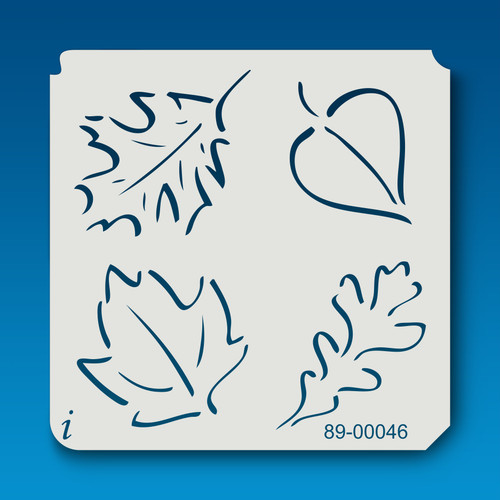 89-00046 various leaves stencil