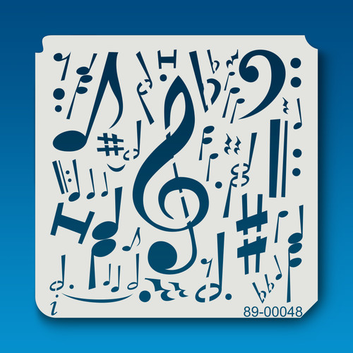 89-00048 Musical Notes Stencil