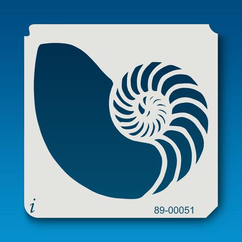 89-00051 Nautilus Shell Stencil