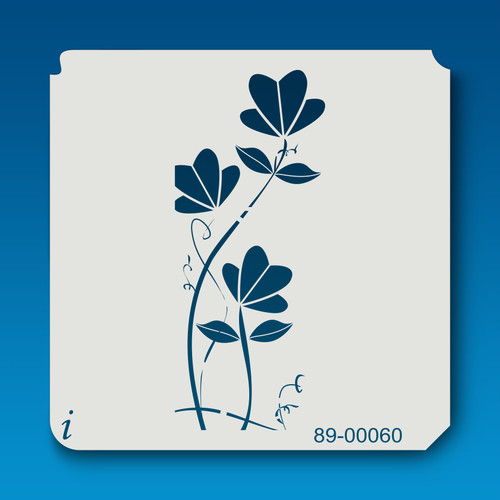 89-00060 Fan Flower Stalk Stencil
