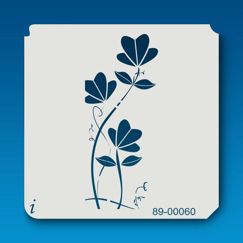 89-00060 Fan Flower Stalk Stencil