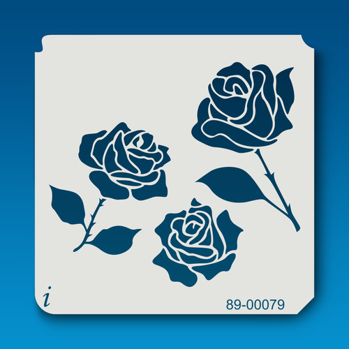 89-00079 Multi-Rose Flower Stencil