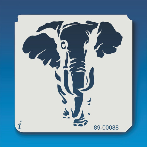 89-00088 elephant safari animal stencil