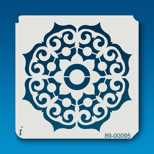 89-00095 Venetian Flower Mandala Stencil