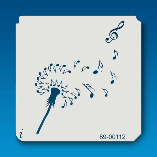 89-00112 Dandelion Musical Notes Stencil