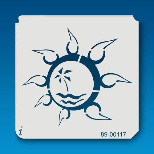 89-00117 Tropical Island Sun Stencil