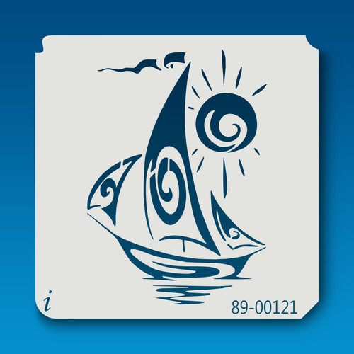 89-00121 Sail Ship Stencil
