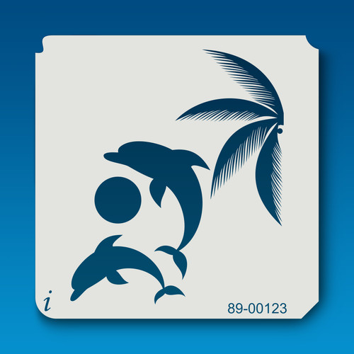 89-00123 Jumping Playful Dolphins Stencil