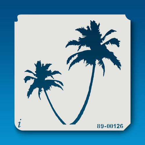 89-00126 Palm Trees Stencil