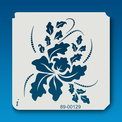 89-00129 blowing leaves stencil