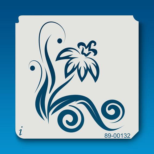 89-00132 Iris Flower Stencil