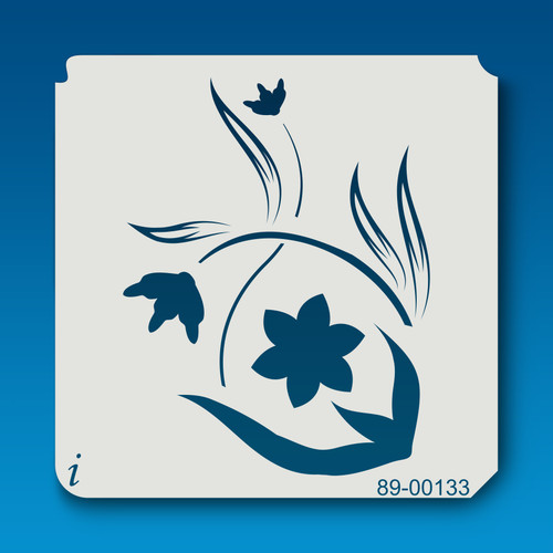 89-00133 Cat Paw Flower Stencil