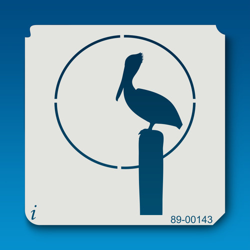 89-00143 Sunset Pelican Stencil