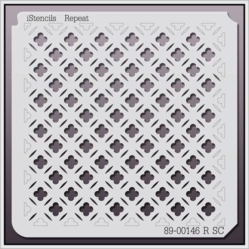 89-00146 RSC modern quatrefoil pattern stencil