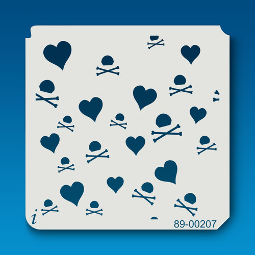 89-00207 Hearts and Crossbones Heart Stencil