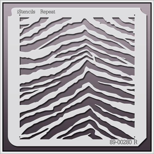 89-00280 R Zebra Print Stencil