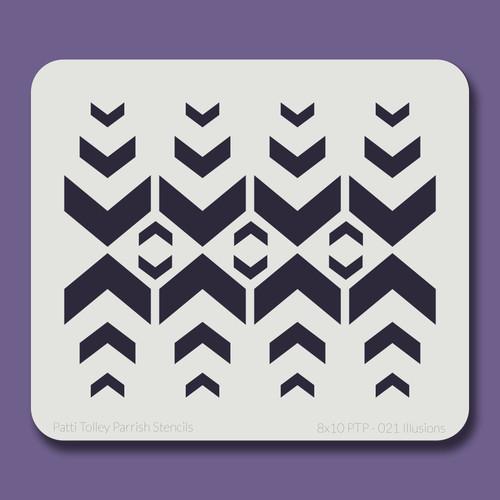 8X10 PTP-021 Illusions Stencil