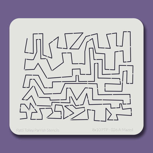 8X10 PTP-026 A-Mazed Stencil