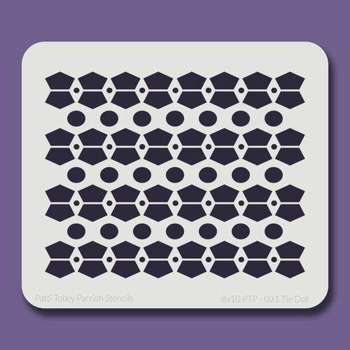 8X10 PTP-031 Tie Dot Stencil