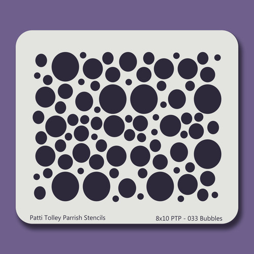 8X10 PTP-033 Bubbles Stencil