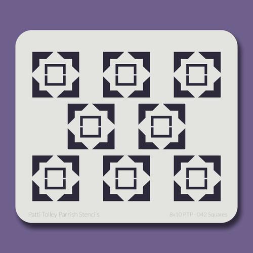 8X10 PTP-042 Squares Stencil