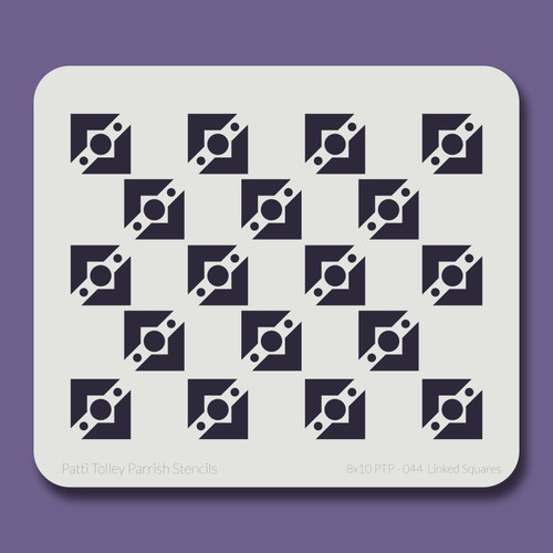 8X10 PTP-044 Linked Squares Stencil