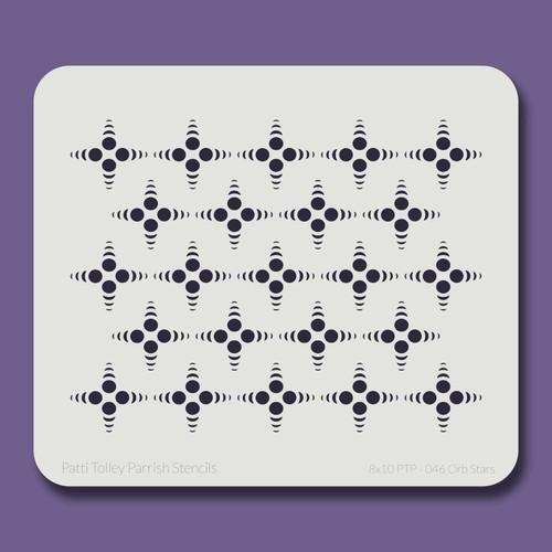 8X10 PTP-046 Orb Stars Stencil