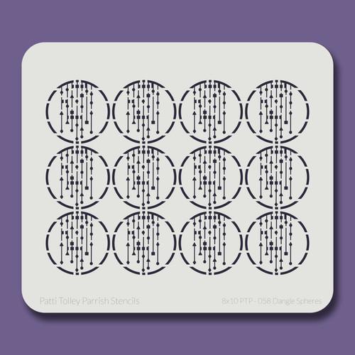 8X10 PTP-058 Dangle Spheres Stencil
