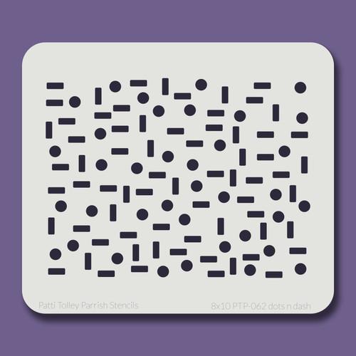 8x10 PTP-062 dots n dash stencil
