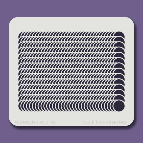 8x10 PTP-067 dorsal infinity stencil