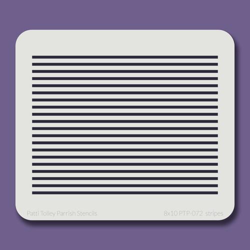 8x10 PTP-072 stripes stencil