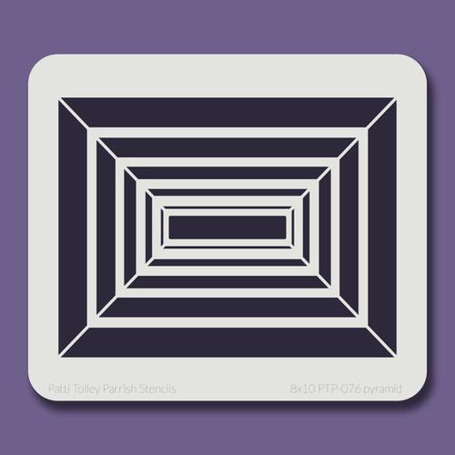 8x10 PTP-076 pyramid stencil
