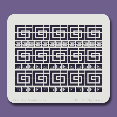 8x10 PTP-078 greek keys stencil