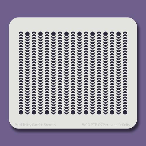 8x10 PTP-079 crescent infinity stencil