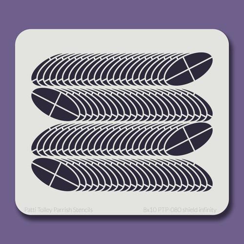 8x10 PTP-080 shield infinity stencil