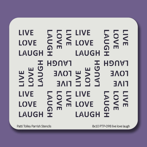 8X10 PTP-098 live love laugh