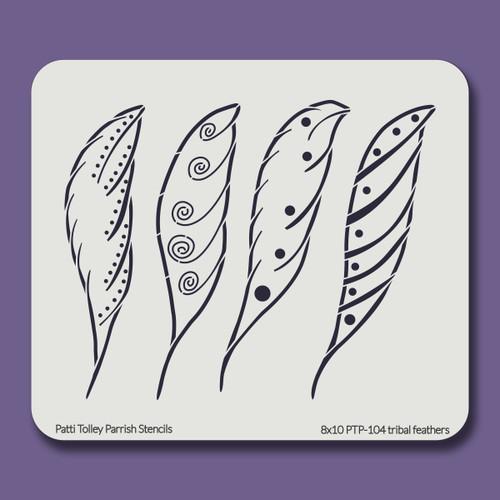 8X10 PTP-104 tribal feathers