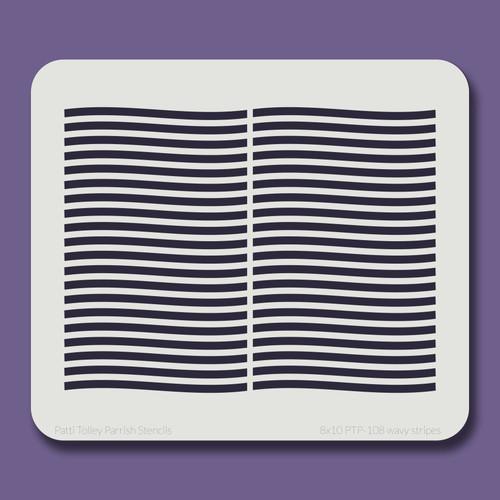 8x10 PTP-108 wavy stripes