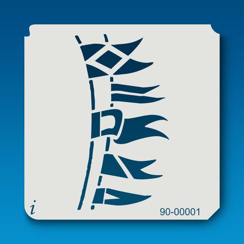 90-00001 Maritime Flags Stencil