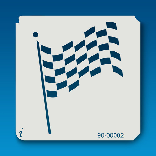 90-00002 Checkered Flag Craft Stencil