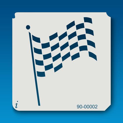 90-00002 Checkered Flag Craft Stencil