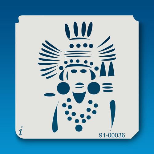 91-00036 Indian Tattoo Stencil