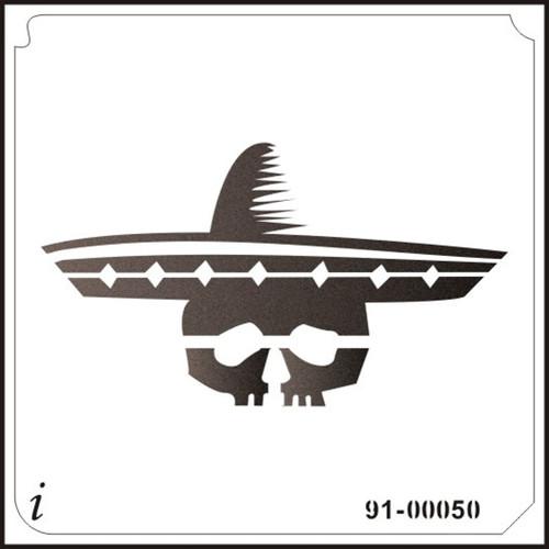 91-00050 Mexican Skull Stencil