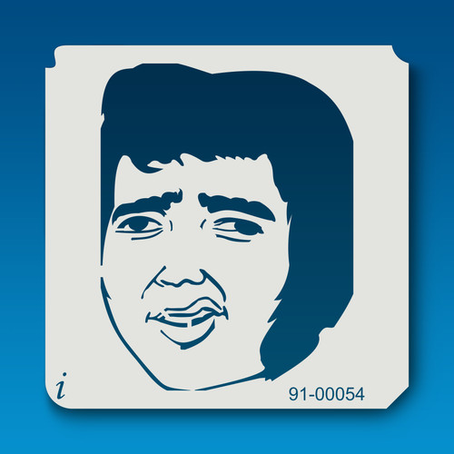 91-00054 Elvis Face Cartoon Stencil